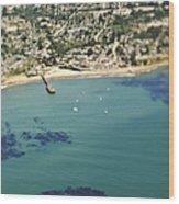 Coastal Community And Sailboats Wood Print by Eddy Joaquim