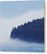 Coastal Morning Fog Wood Print