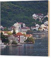 Coastal Town Of Montenegro Wood Print
