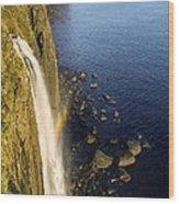 Coastal Waterfall Wood Print