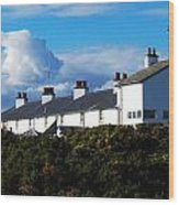Coastguard Cottages Dunwich Heath Suffolk Wood Print by Darren Burroughs