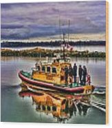 Coastguard Hdr Wood Print