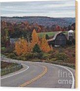 Coasting Through Autumn Wood Print
