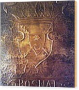 Coat Of Arms Bosnia  Wood Print by Mak Art