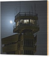 Cob Speicher Control Tower Under A Full Wood Print by Terry Moore