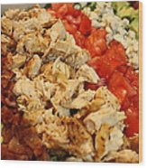 Cobb Salad Wood Print