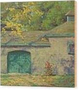 Cobblestone Barn Wood Print
