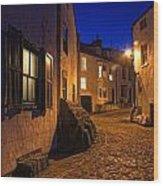 Cobblestone Road, North Yorkshire Wood Print by John Short