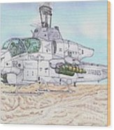 Cobra Attack Helicopter Wood Print