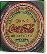 Coca Cola Clock Wood Print