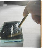 Cocaine Use Wood Print