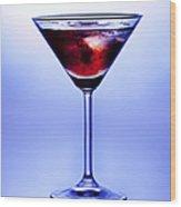 Cocktail Wood Print