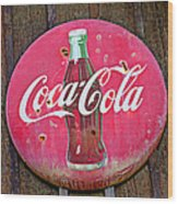 Coco Cola Sign Wood Print by Garry Gay