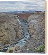 Cody Wyoming River Wood Print