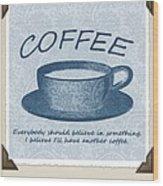 Coffee 1 Scrapbook Wood Print