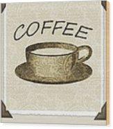 Coffee 3-2 Scrapbook Wood Print