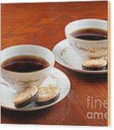 Coffee And Cookies Wood Print