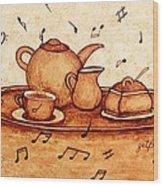 Coffee Break 2 Coffee Painting Wood Print