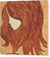 Coffee Break Coffee Painting Wood Print