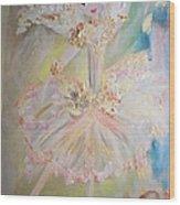 Coffee Fairy Wood Print