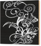 Coffee Flowers 1 Bw Wood Print