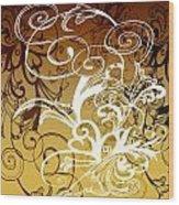 Coffee Flowers 1 Calypso Wood Print