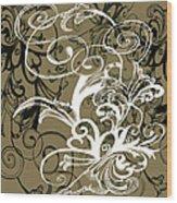 Coffee Flowers 1 Olive Wood Print