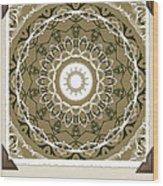 Coffee Flowers 1 Olive Medallion Scrapbook Wood Print