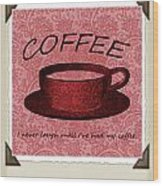 Coffee Flowers Scrapbook Triptych 1  Wood Print