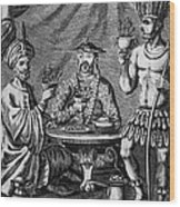 Coffee, Tea & Chocolate, 1685 Wood Print by Granger