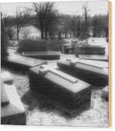 Coffins And Angel Wood Print