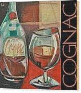 Cognac Poster Wood Print