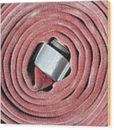 Coiled Fire Hose Wood Print