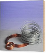 Coiled Wires Wood Print