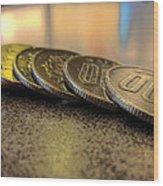 Coin Wood Print