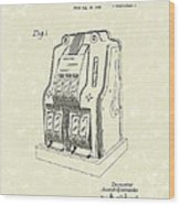 Coin Operated Casino Machine 1938 Patent Art Wood Print by Prior Art Design