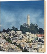 Coit Tower San Francisco Wood Print
