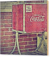 Coke Box Wood Print