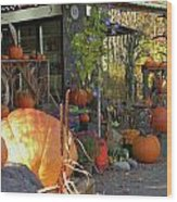 Colby Farm Stand Wood Print by Kristine Patti