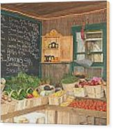 Colby Farm Stand Produce Wood Print
