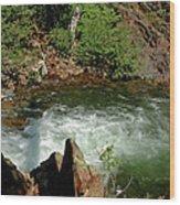 Cold Creek Waters Glen Alpine Creek Wood Print