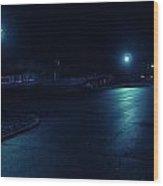 Cold Light At Night Wood Print