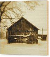 Cold On The Ridge Wood Print