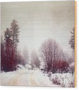 Cold Road Wood Print