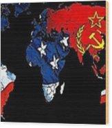 Cold War Map Wood Print