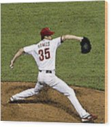Cole Hamels Wood Print by Gerry Mann
