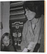 Colette With Mamma Chris In Their Ice Kiosk In Denmark At The Time  Wood Print