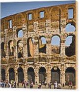 Coliseum Facade Wood Print