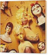 Collectable Dolls Wood Print by Garry Gay