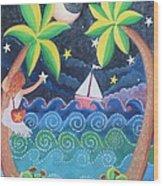 Collecting Stars Wood Print